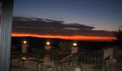 Il tramonto dalla trattoria